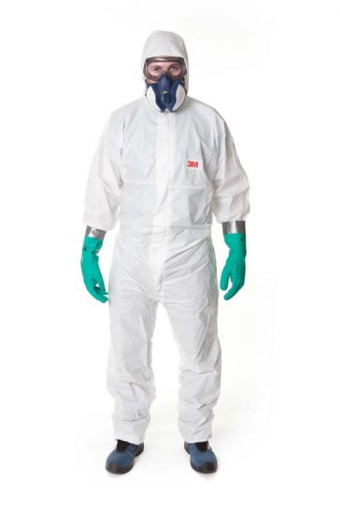 3M 4545 Coverall White Type 5/6 Size XL Pack of 20-camlab