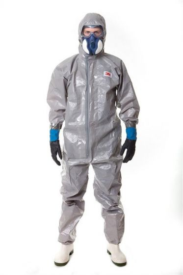4570 Coverall Grey Type 3/4/5/6 Size M Pack of 12-4570GM-Camlab