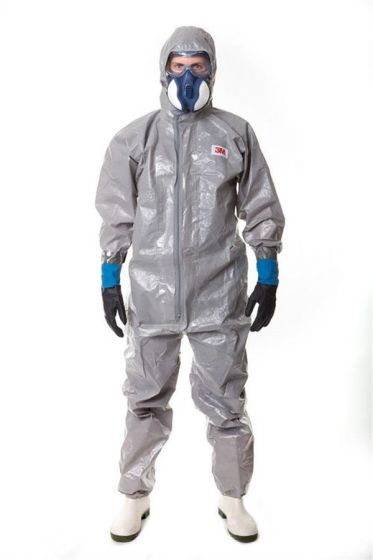 4570 Coverall Grey Type 3/4/5/6 Size S Pack of 12-camlab