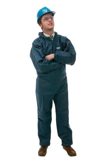 KLEENGUARD A10 Light Duty Coveralls - Hooded/L Blue 50 Garments