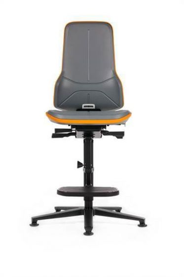 Bimos-Neon 3 High Laboratory Chair with footrest and glides -Camlab
