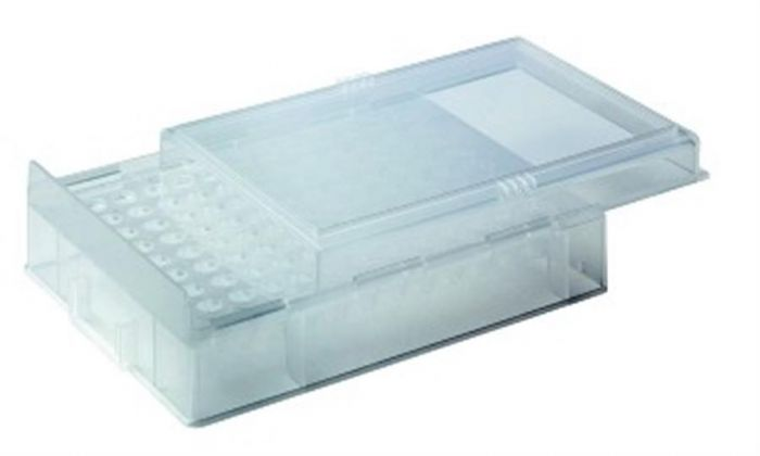 Camlab Plastics PCR Rack with Lid, Polypropylene Natural, Pack of 5