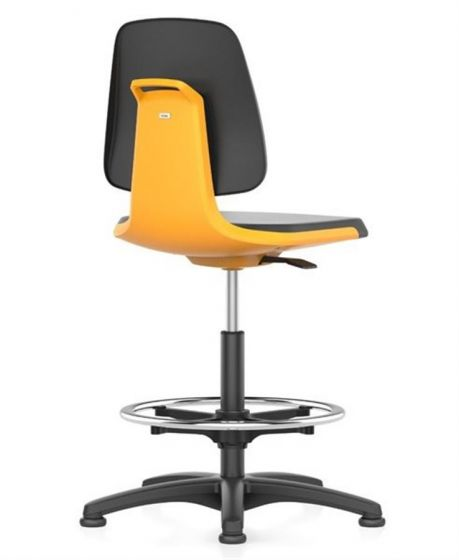 Labsit 3 with artificial leather seat, orange seat shell