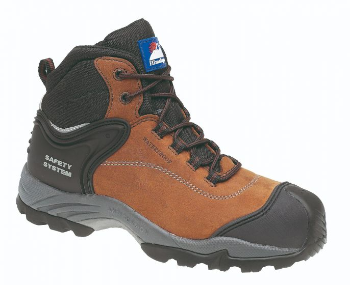 4104 Himalayan Brown Nubuck Waterproof Safety Boots