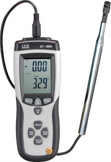 Hot Wire Thermal Anemometer with USB logging