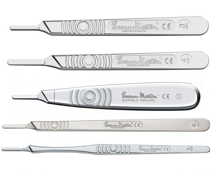 Swann-Morton Stainless Steel Surgical Scalpel Handles - Non-Sterile