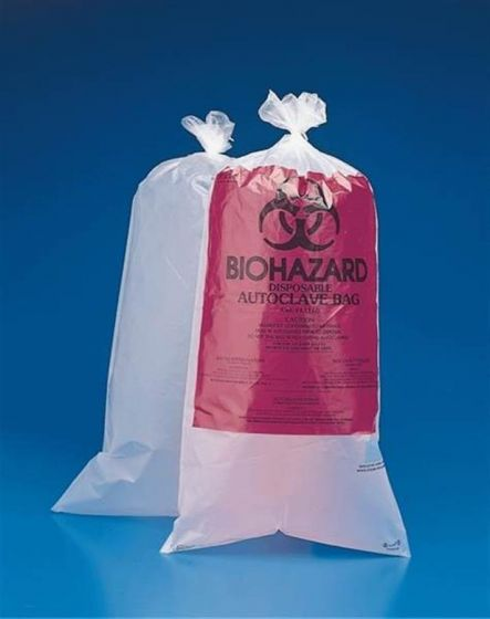 Biohazard Disposal Labelled and Unlabelled Autoclave Bags
