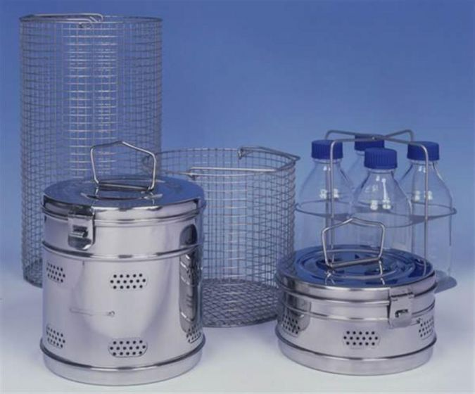 Bottle Carrier holds 4 x 1L media bottles for 30L Autoclave