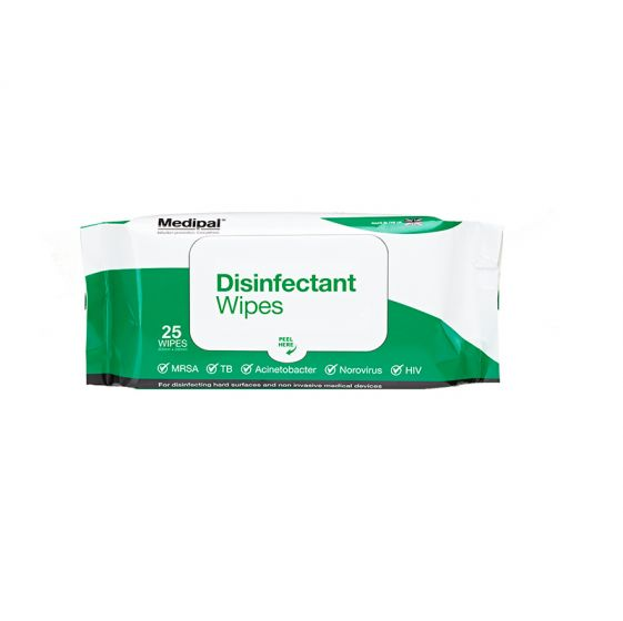 S624110MPCE Medipal Disinfectant Wipes - Alcohol Free - Soft Pack - 24 x 25 Sheets