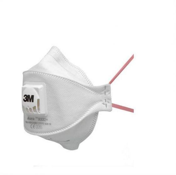 3M™ 9332+ Aura FFP3 Valved Dust/Mist Respirator Pack of 10--Camlab