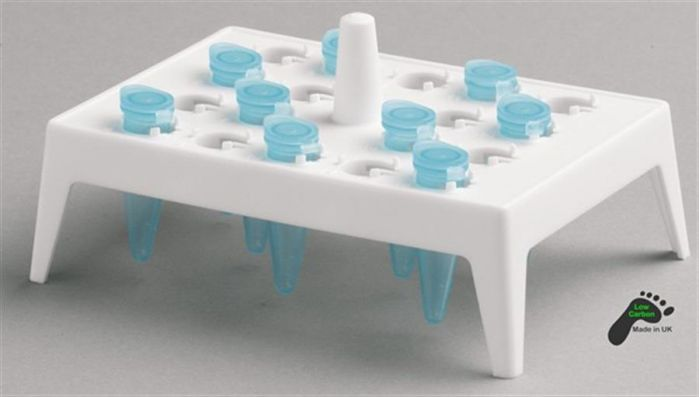 Camlab Plastics Polypropylene Floating Rack 18 x 1.5/2ml - White Pack of 5