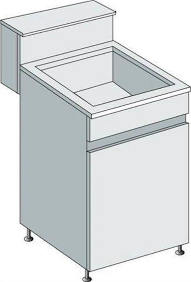 Sink units with skirting/shelf