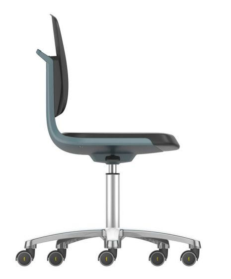 Labsit 2 PU seat Anthracite seat shell, aluminium base