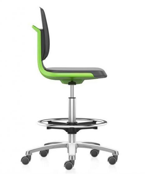 Labsit 4 tall chair with stop/go castors & foot ring--Camlab