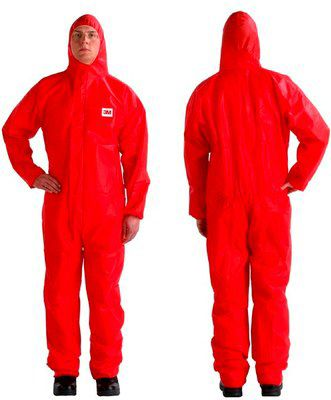 3M 4515 Protective Coverall Red Type 5/6 Pack of 20