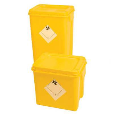 Yellow Hazardous Infectious Waste Containers