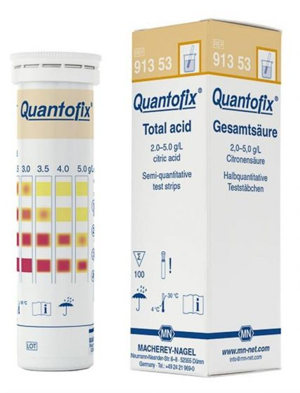 QUANTOFIX Total Acid test strips 100 tests-91353-Camlab
