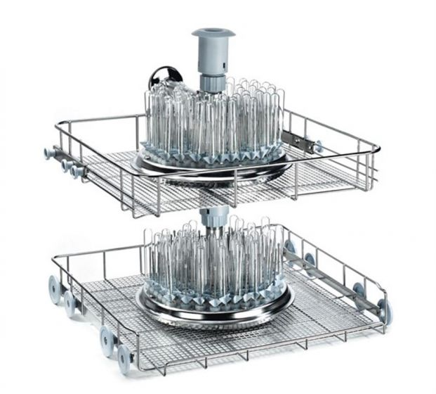 KP200DS 200 position injection washing trolley for test tubes