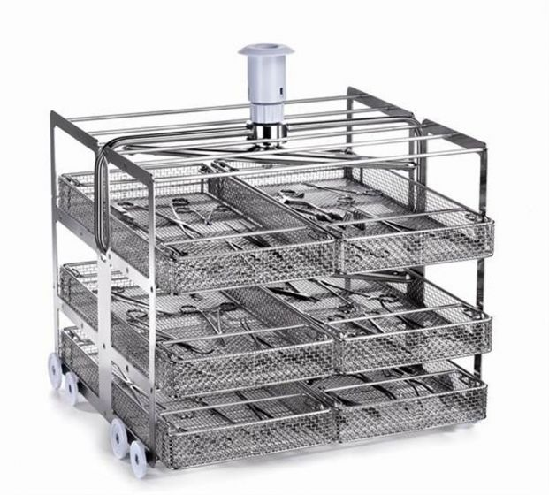 CSK6L 3 Level washing trolley for CSK2 baskets