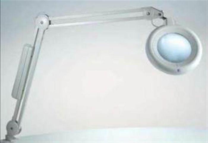 Illuminated Magnifier on adjustable arm
