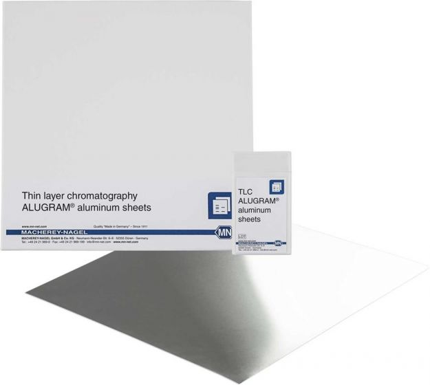 Machery Nagel ALUGRAM-Sheets SIL G/UV254 thickness: 0.2 mm. size: 5 x 10 cm pack of 50 from Camlab