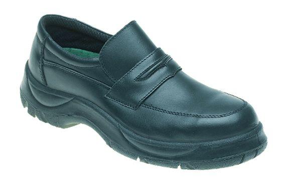 611 Black Himalayan Wide Grip Slip on Safety Shoe