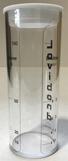 Plastic bottle 100ml graduated dilution tube--Camlab