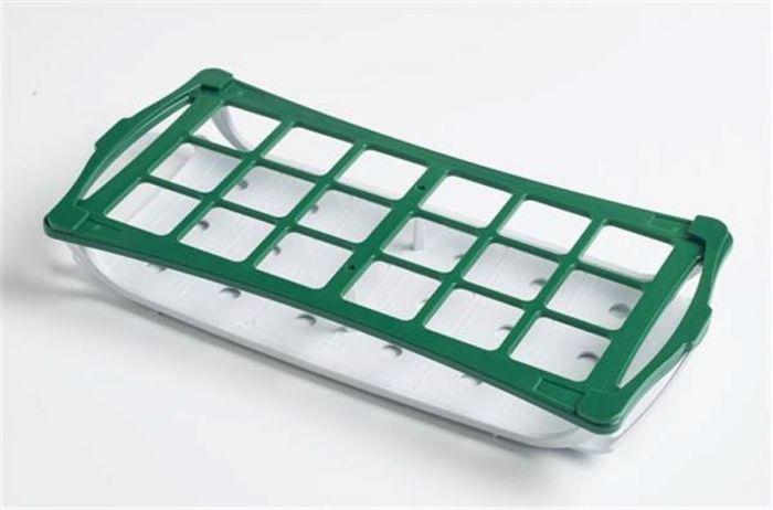 Camlab Plastics 2-Tier Rack For 30mm diameter tubes - 50ml falcon tubes - Green