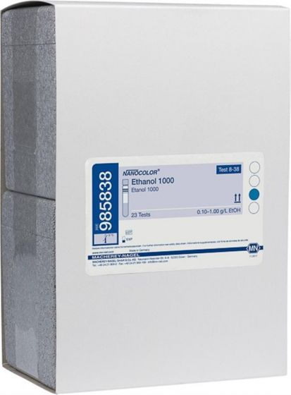 NANOCOLOR Ethanol 1000 tube test range: 0.10-1.00 g/L EtOH;  0.013-0.130 Vol. % EtOH  23 Tests-985838-Camlab