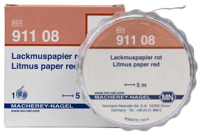 Litmus paper red reel of 5 m length. width: 7 mm