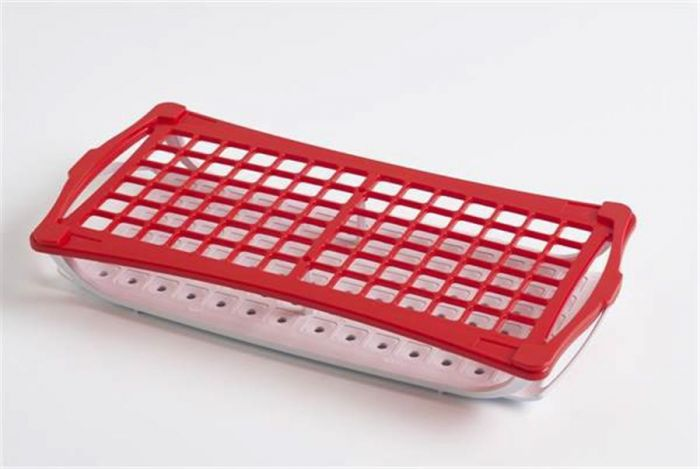 2 Tier Rack For 13mm Tubes - Red  holds up to 84 tubes