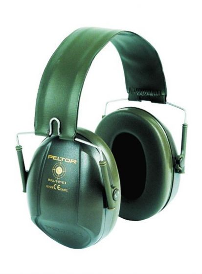 PELTOR Bulls Eye I Ear Muff Folding Green Pack of 20