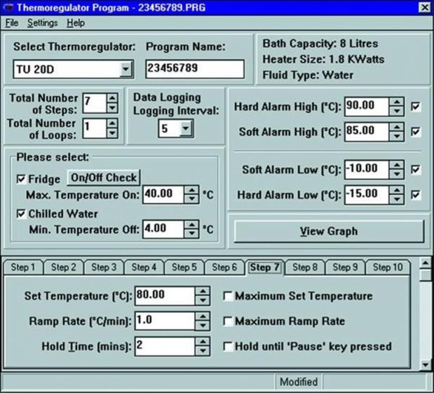 Thermsoft Thermoregulator software For Techne  Baths