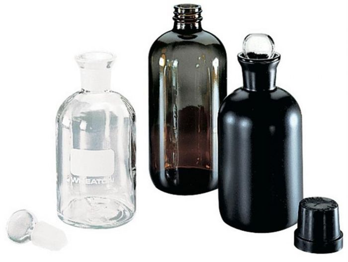 BOD Bottle Clear Glass 300ml with ground glass stopper