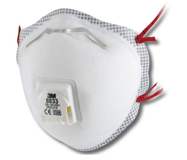 3M 8833 Soft Seal Valved Dust/Mist Respirator - Pack of 5 x 4 (Total 20)