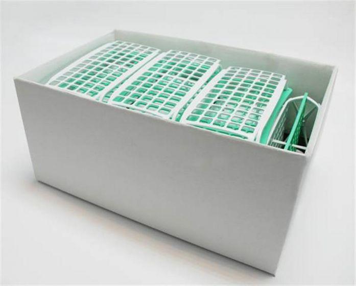 3 Tier Rack for 16mm diameter - 15ml tubes - Pale Green Assembled - Box of 10