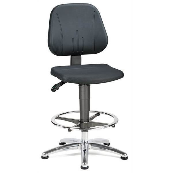 Champ2 Lab Chair with footring, sliders and PU seat