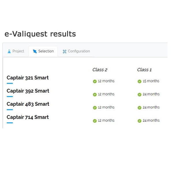 Example results from e-Valiquest application