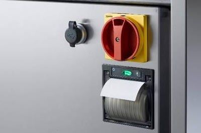 Printer interface on SMEG glasswasher